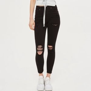 Topshop Jamie high rise moto ripped jeans